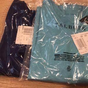 Pair of Talbots short sleeve sweaters